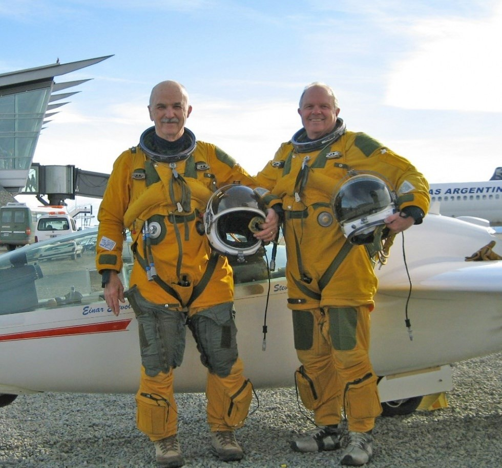 Einar Enevoldson (left) & Steve Fossett (right) - Steve Fossett Challenges