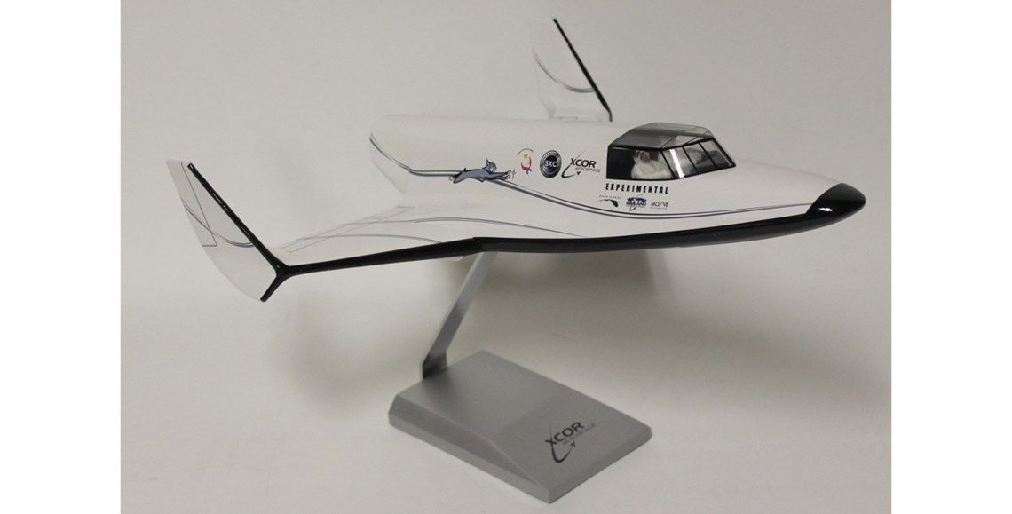 XCOR Lynx - XCOR Lynx spaceplane, 1/24 scale model, ca. 2014