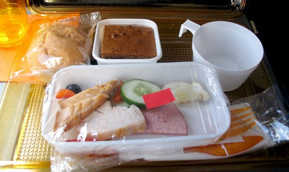 Inflight meal.