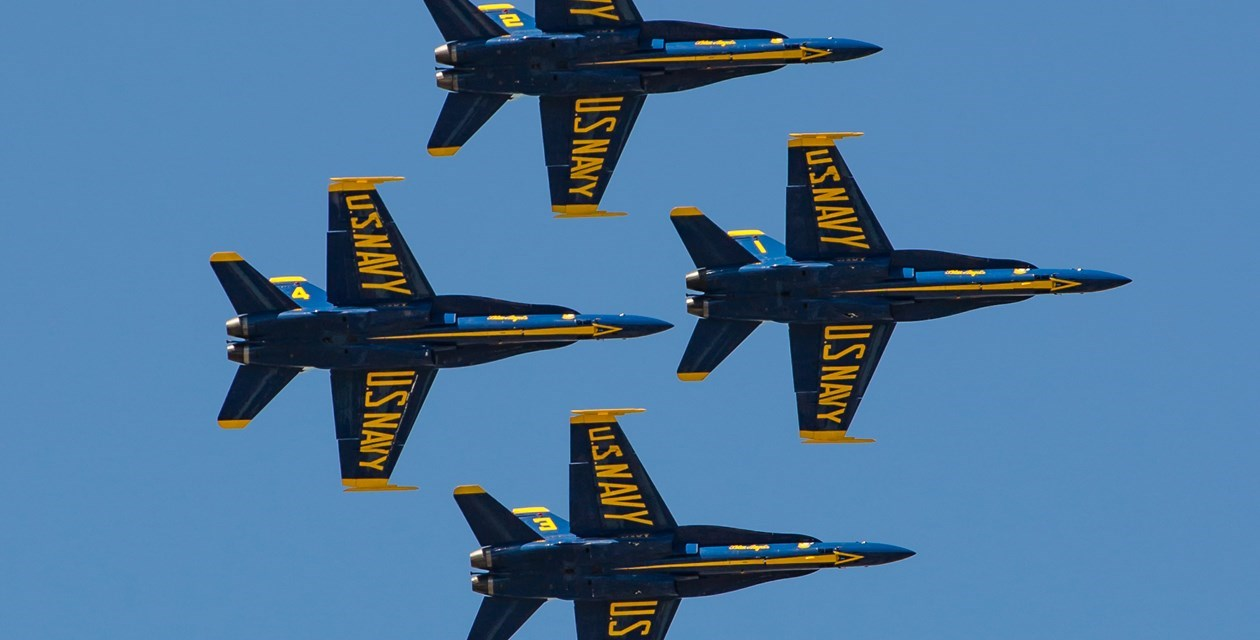 Blue Angels over Museum