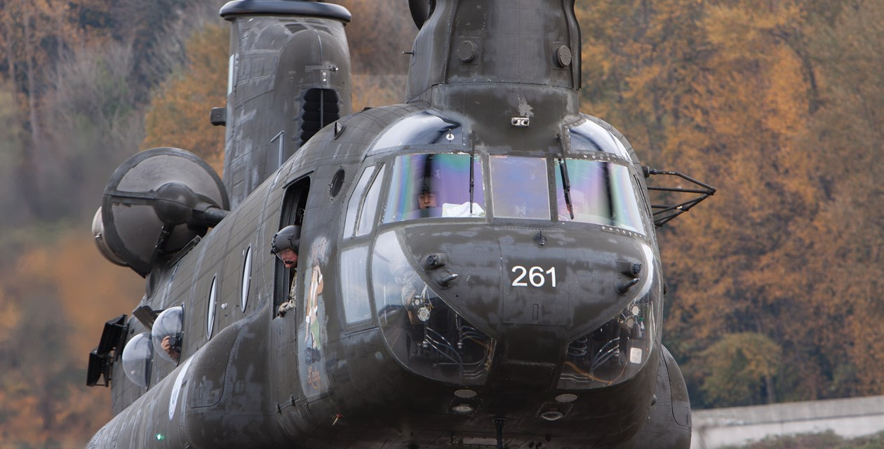 Chinook close up