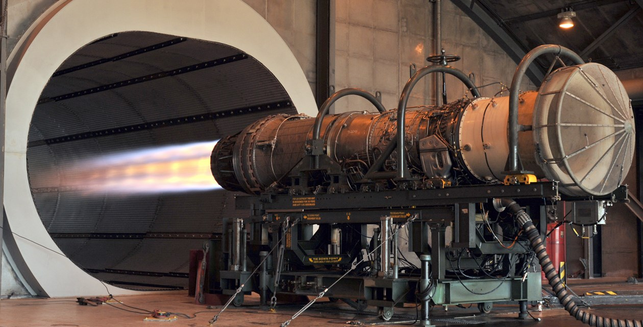 An F100 engine in afterburner during an engine test at the Florida Air National Guard base in Jacksonville, Florida on November 10, 2010. Credit: United States Air Force