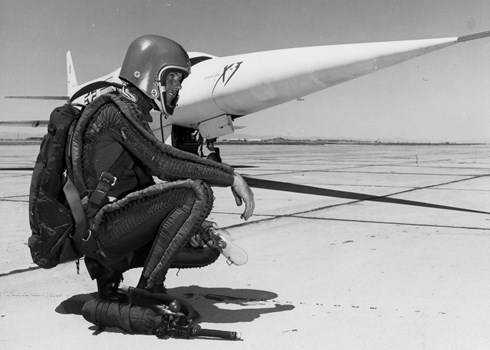 Test Pilot Lt. Col. Murray and X-3