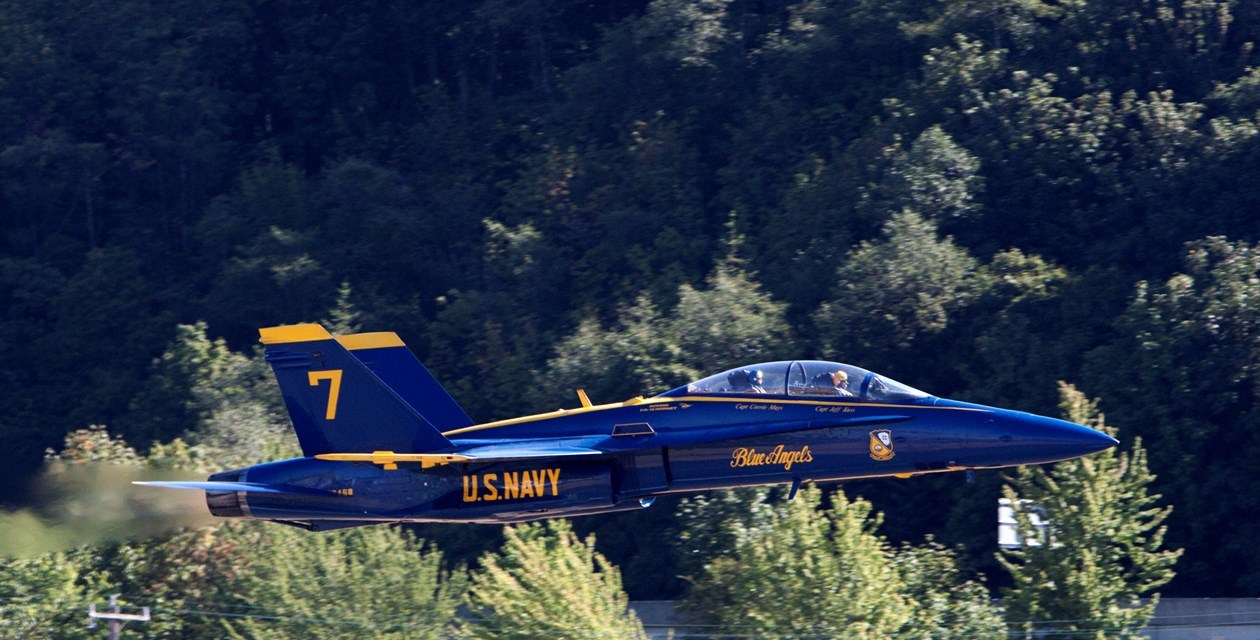 Blue Angels Number 7 from Museum.