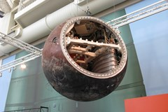 The Museum's Resurs 500 Capsule on display in the Lear Gallery
