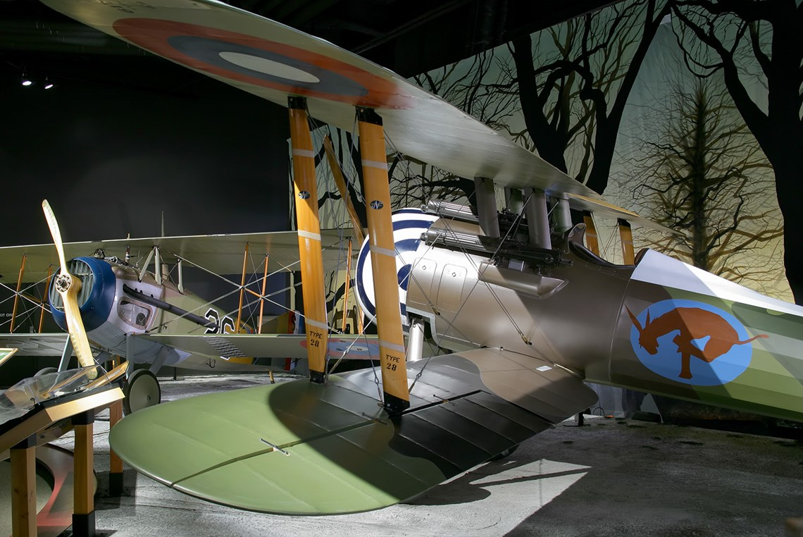 The Museum's Nieuport 28 C.1 (Photo by Heath Moffatt)