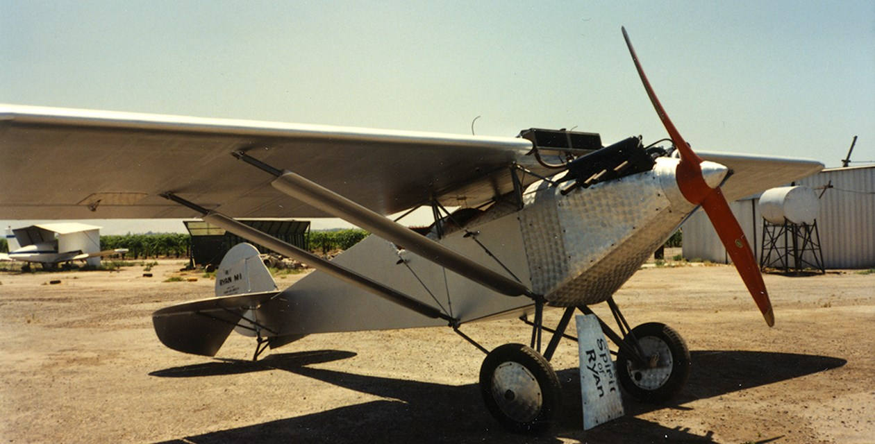The Museum's Ryan M-1 photographed during an acquisition survey, just prior to donation in June of 1990