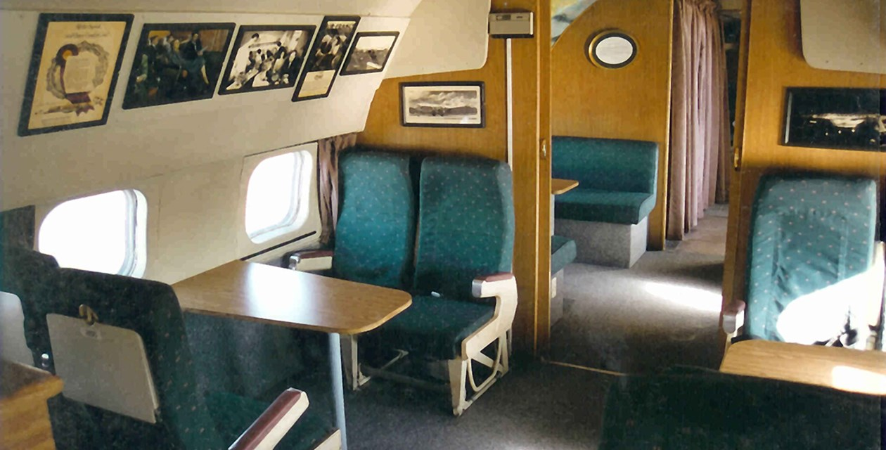 The interior of the Museum's Lockheed 1049G Super Constellation