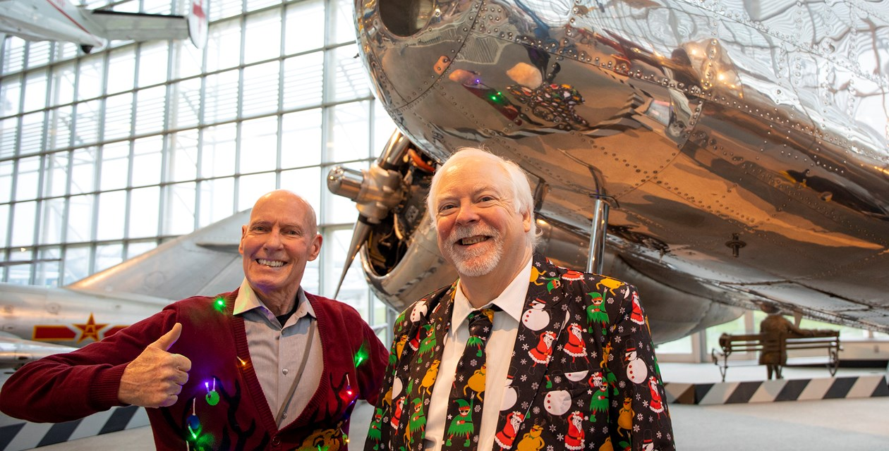 Museum Visitors and Ugly Sweaters