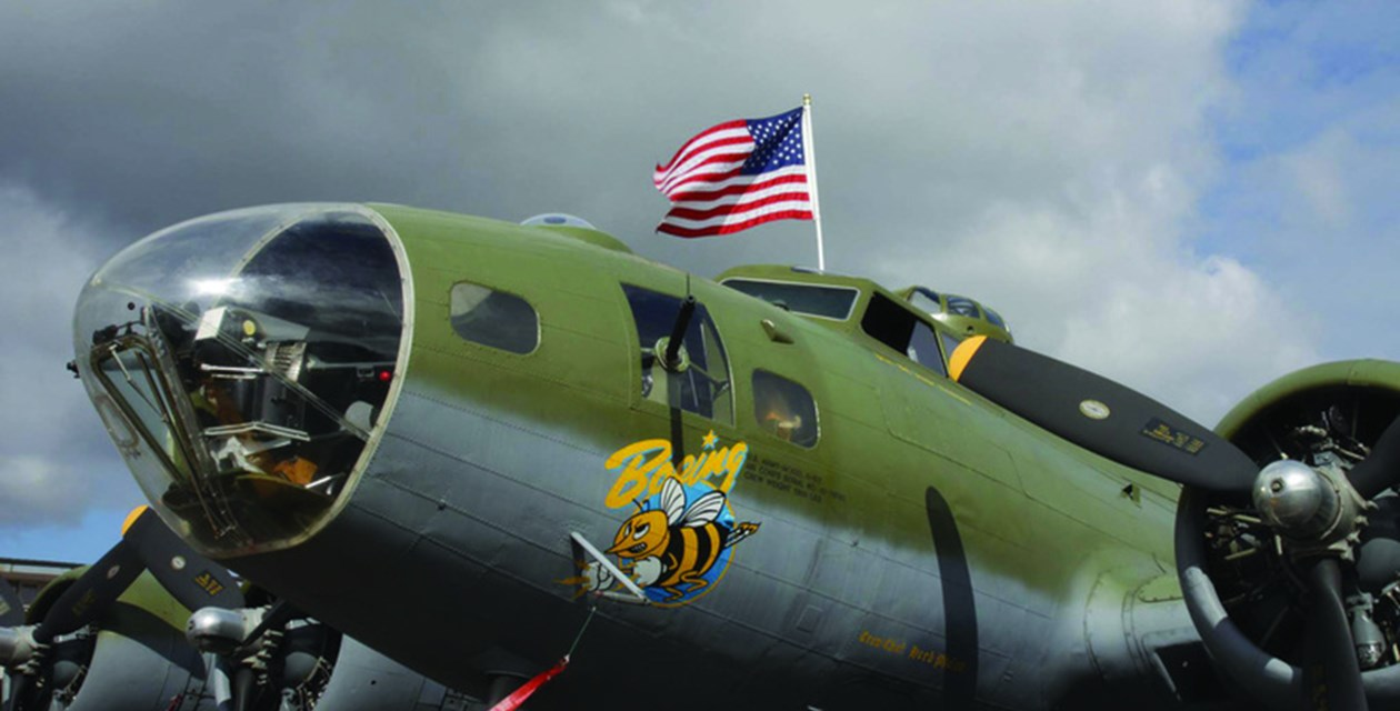 b17flag - B-17 at the Museum of Flight