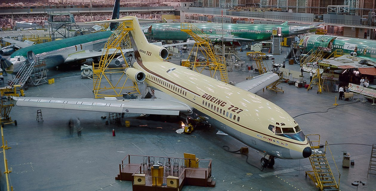 The Museum's Boeing 727-022 at the 727 Rollout on November 27, 1962