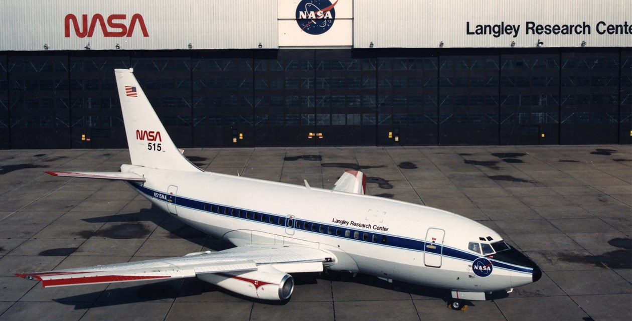 The Museum's Boeing 737-130 at Langley Research Center