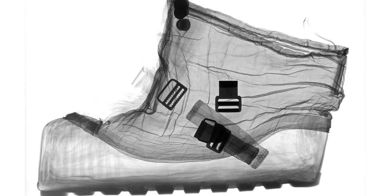 Apollo Spacesuit Boot X-ray