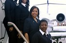 Captain Rachelle Jones, First Officer Stephanie Grant and flight attendants Diana Galloway and Robin Rogers - raa.org