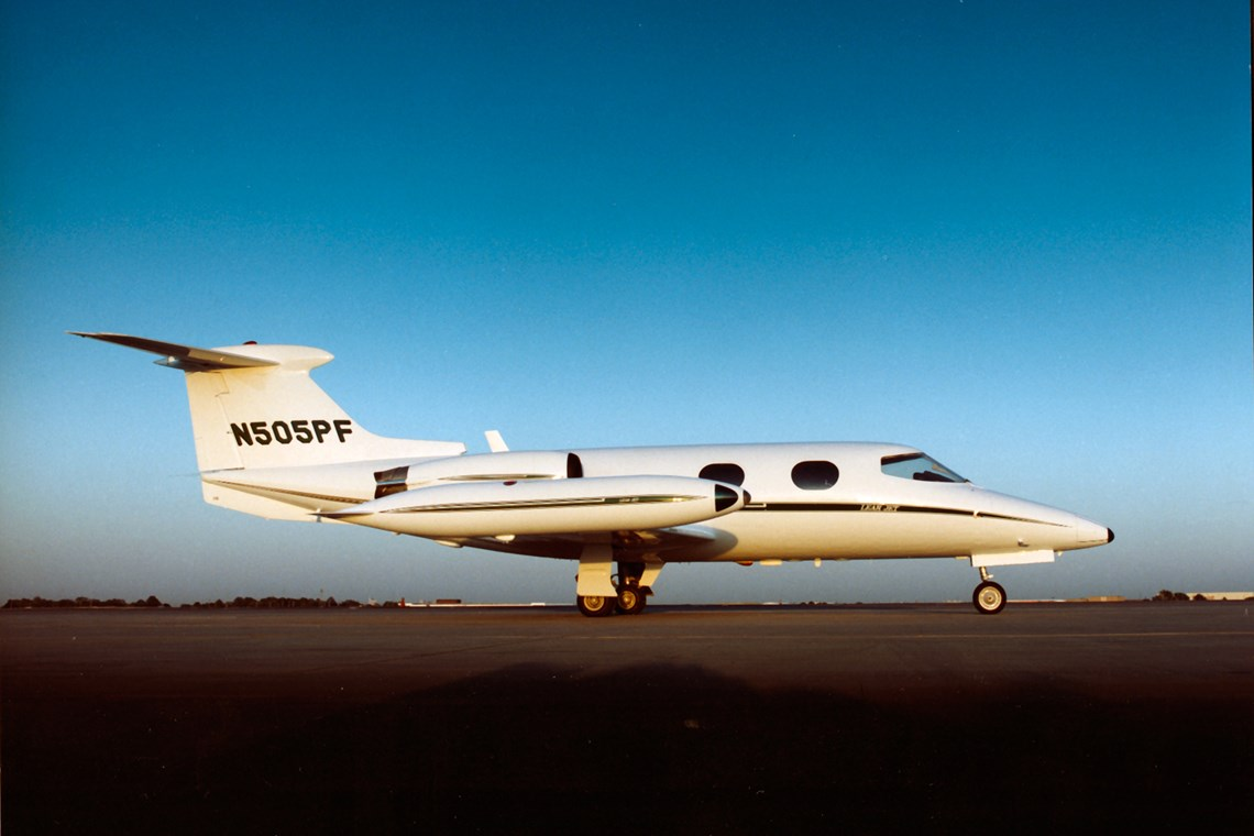 A Learjet 23 on the 30th anniversary of the plane