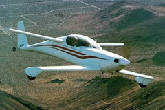 A Rutan Model 54 Quickie (This in-Flight photo is of a Q2)