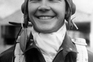 A youthful Stewart relaxes during primary flight training. Note the protective scarf associated with open-cockpit flying. Goggles and the leather helmet were standard issue for fighter pilots throughout the war.  The James C. Stewart Collection