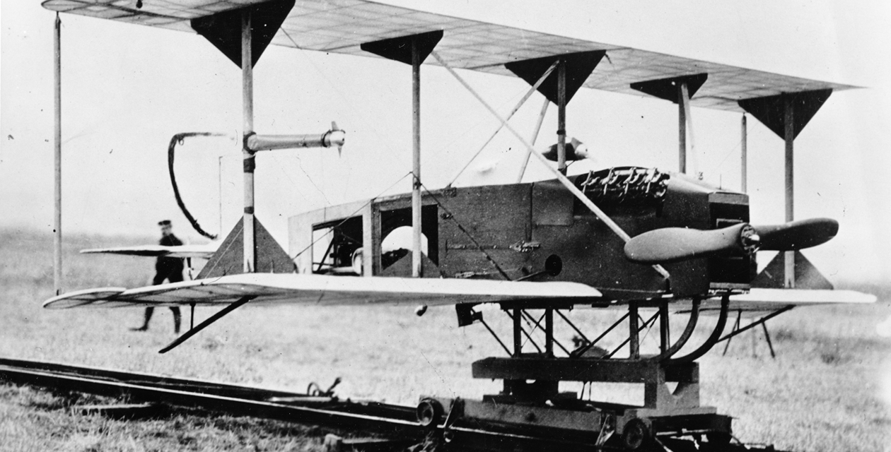 The Sperry Aerial Torpedo became the first UAV to fly in 1918