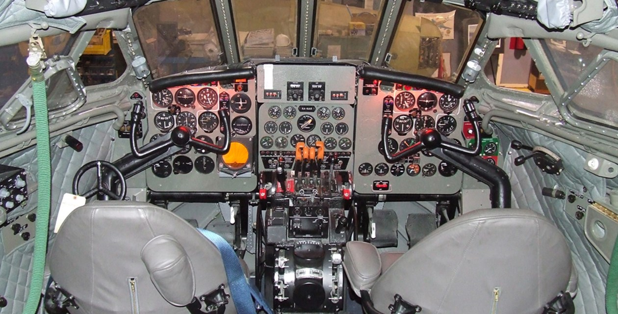 The cockpit of the Museum's deHavilland D.H. 106 Comet Mk. 4C