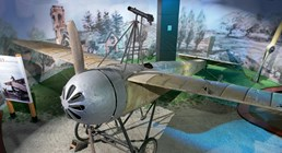 The Museum's Caproni Ca.20 on display in the Personal Courage Wing (Photo by Heath Moffatt)