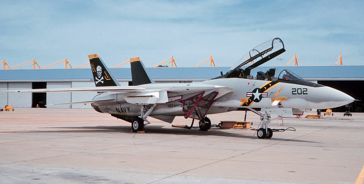 The Museum's Grumman F-14A Tomcat at NAS Oceana, Virginia, in 1976