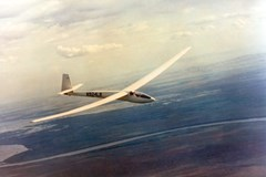 The Lamson L-106 Alcor Glider in flight