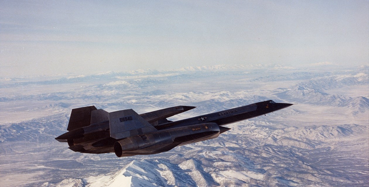 The Museum's Lockheed M-21 Blackbird in flight