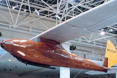 The McAllister Yakima Clipper Glider on display in the Great Gallery