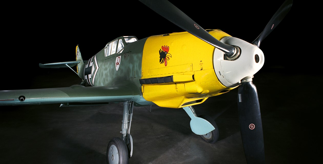 The Museum's Messerschmitt BF 109E-3 (Photo by Heath Moffatt)