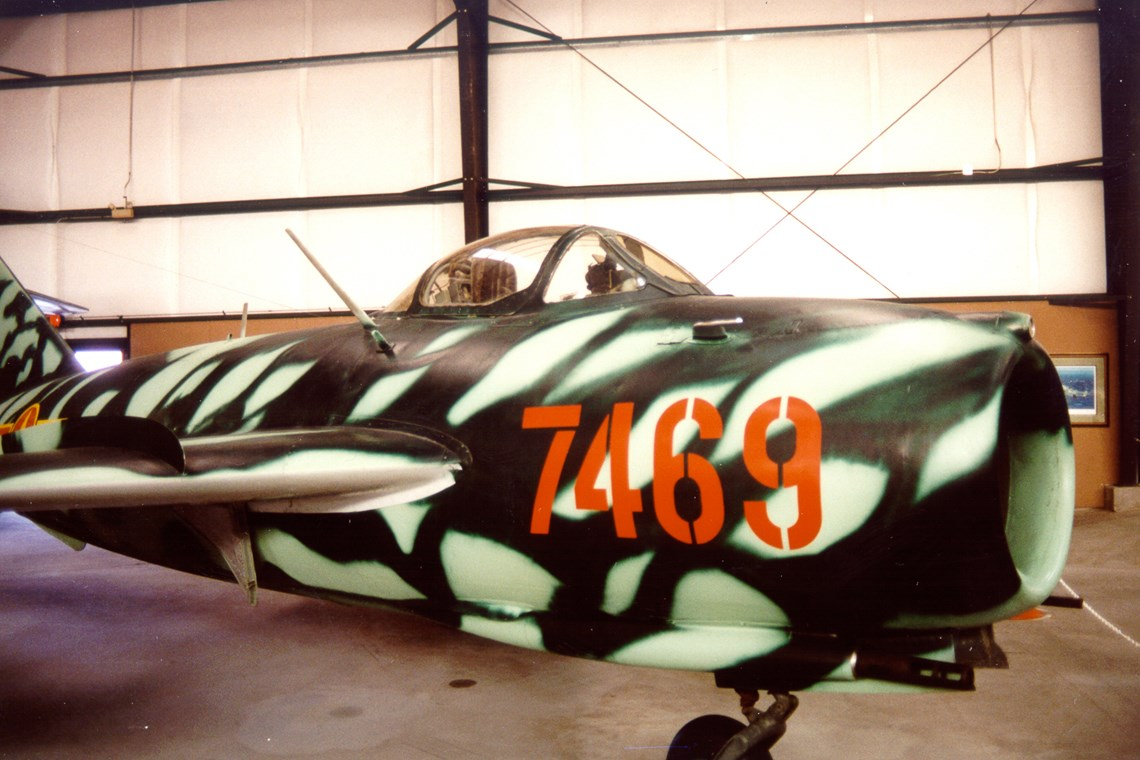 The Museum's Mikoyan-Gurevich MiG-17 at the Champlin Museum in Mesa, Arizona