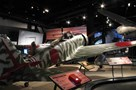 The Museum's Nakajima Ki-43-IIIa Hayabusa Oscar Reproduction on display in the Personal Courage Wing