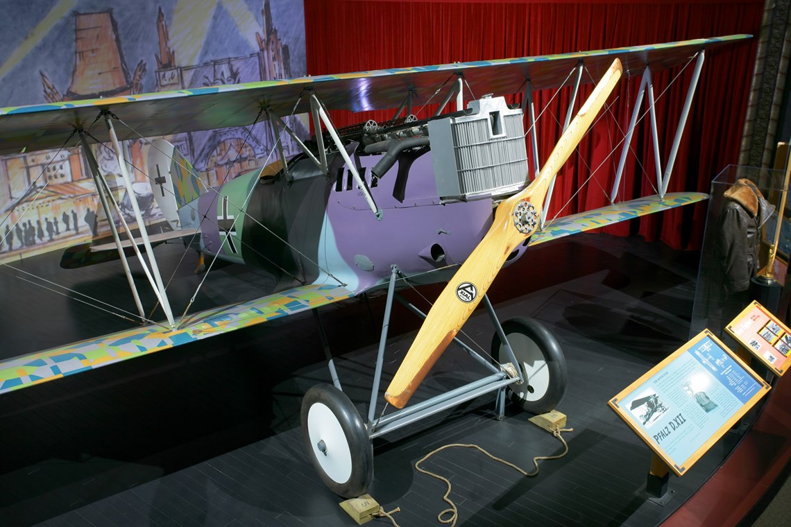 The Museum's Pflaz D.XII on display in the Personal Courage Wing (Photo by Heath Moffatt)
