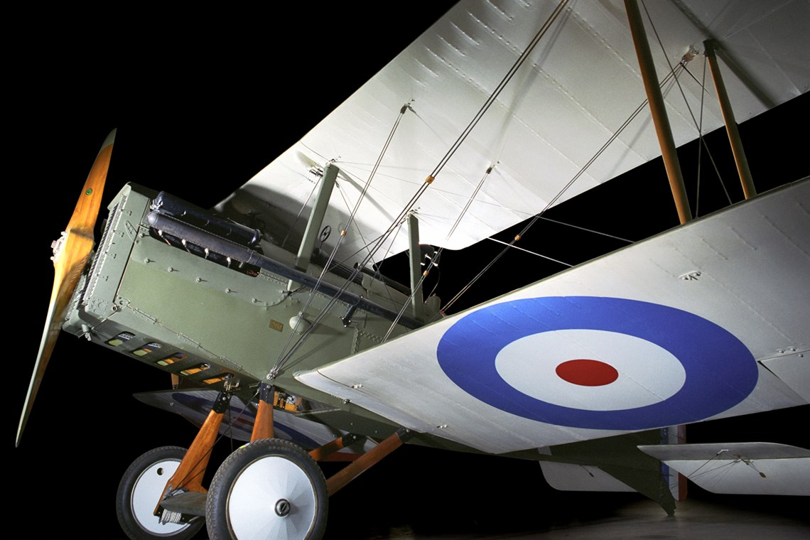 The Museum's Royal Aircraft Factory  S.E.5a Reproduction (Photo by Heath Moffatt)