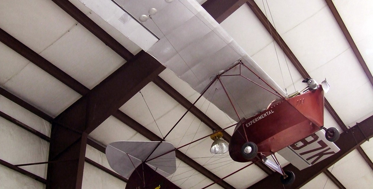 The Museum's Sorrell Cool Crow 1 Parasol on display at the Restoration Center