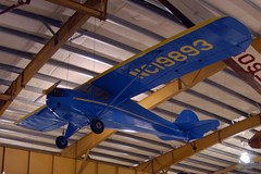The Museum's Taylorcraft Model A on display at the Restoration Center