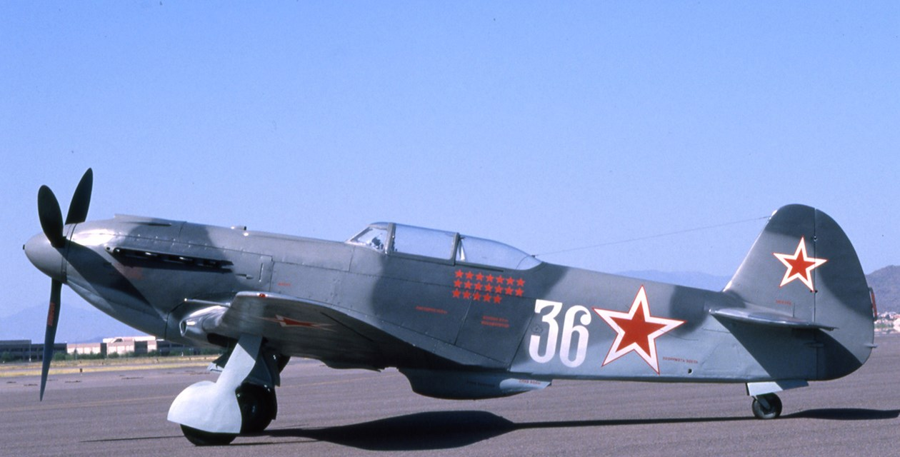 The Museum's Yakovlev Yak-9U Frank at the Champlin Museum in Mesa, Arizona