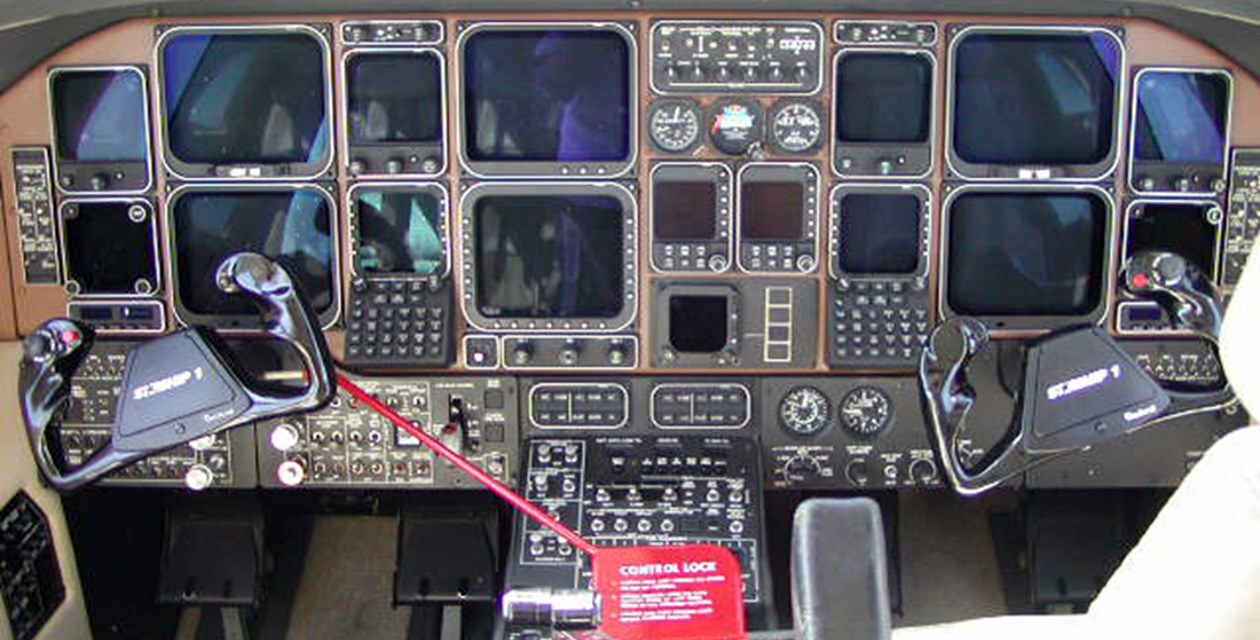 Cockpit of the Museum's Beech Starship 1 Model 2000A